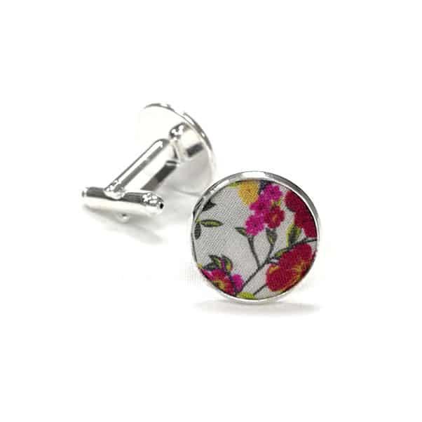 boutons de manchette fleuri cannock multicolor