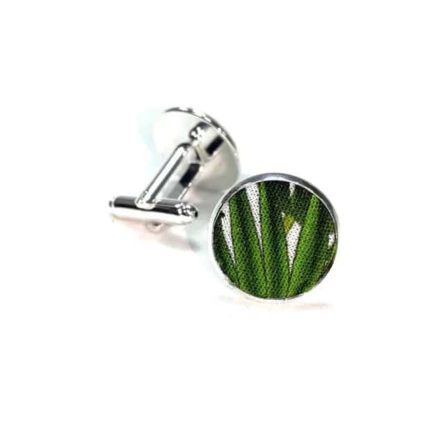 boutons de manchette tropical cayenne vert