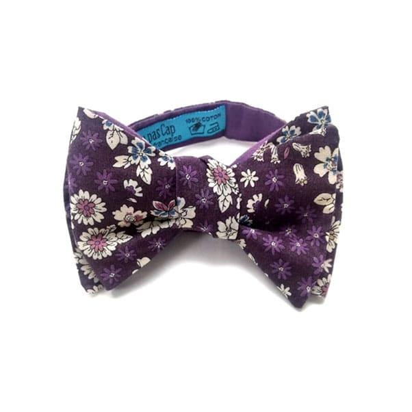 noeud papillon fleuri buenosair violet