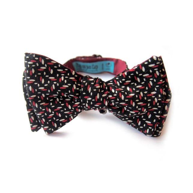 noeud papillon imprime bakou noir rouge