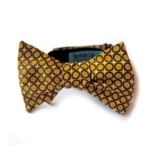 noeud papillon imprime bilbao jaune