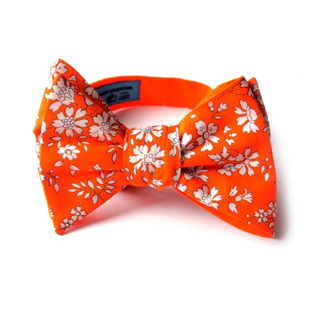 noeud papillon liberty tika orange