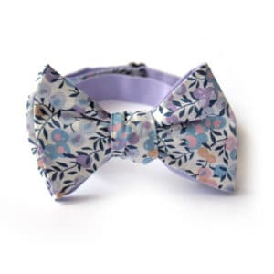 noeud papillon liberty toscane violet bleu