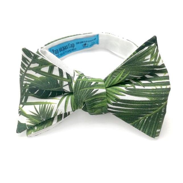 noeud papillon tropical cayenne vert