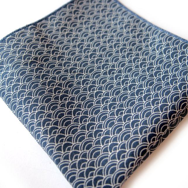 pochette de costume dacca bleu