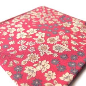 pochette fleuri caracas rouge