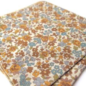 pochette fleuri quito jaune bleu
