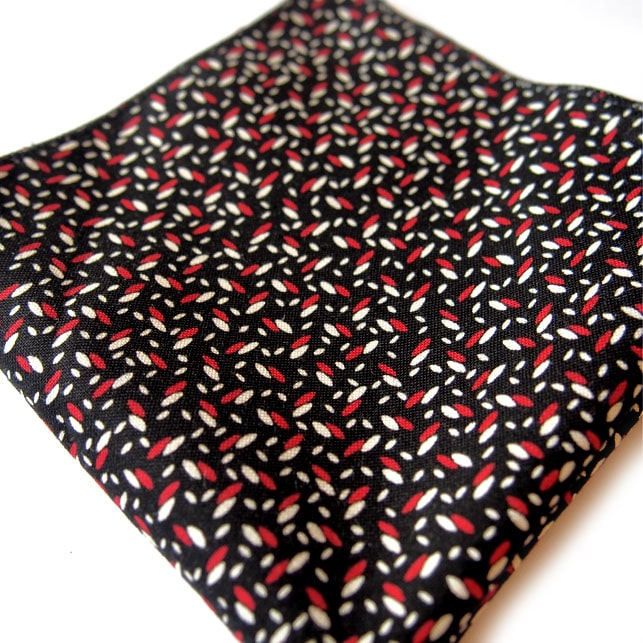 pochette imprime bakou noir