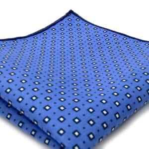 pochette imprime manhattan bleu