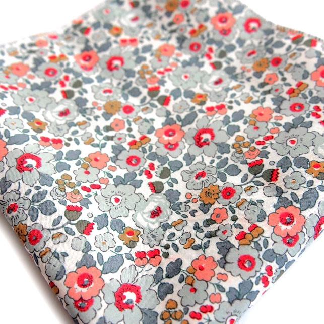 pochette liberty bari gris rose