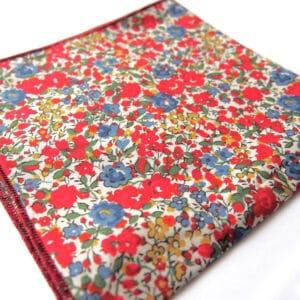 pochette liberty saigon bleu rouge