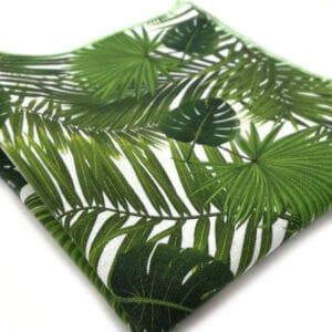 pochette tropical vert