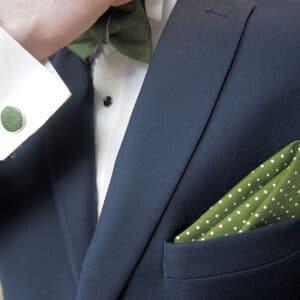pochette.silhouette.pois .vert
